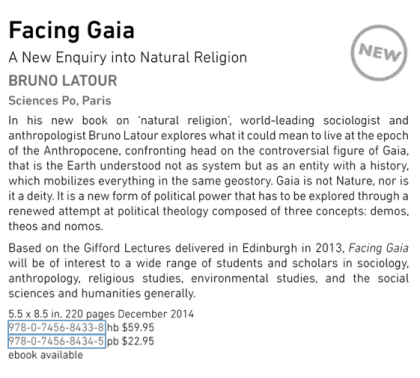 Latour Gaia 2014